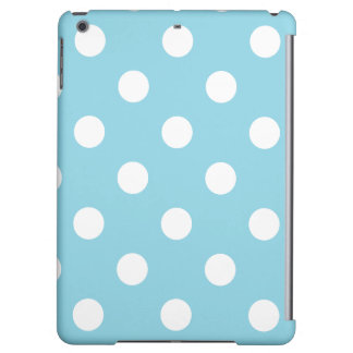 Blue and White Polka Dot Pattern iPad Air Covers