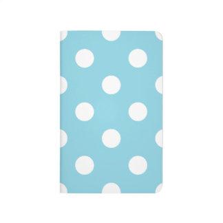 Blue and White Polka Dot Pattern Journal