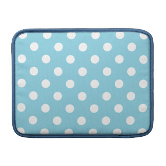 Blue and White Polka Dot Pattern MacBook Sleeves