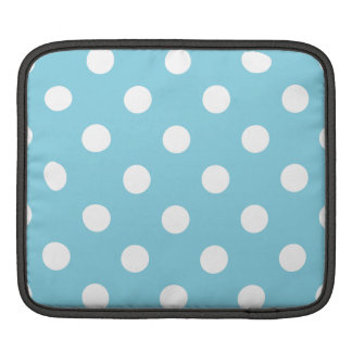 Blue and White Polka Dot Pattern Sleeve For iPads