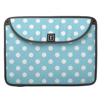 Blue and White Polka Dot Pattern Sleeve For MacBook Pro