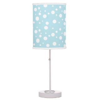 Blue and White Polka Dot Table Light Table Lamp