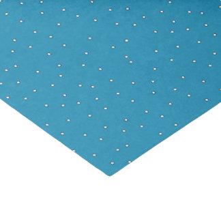 Blue and White Polka Dot Tissue Paper
