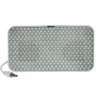 Blue and White Polka Dots Faded iPhone Speaker