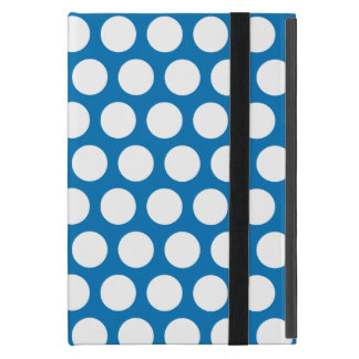Blue and white polka dots iPad mini cases