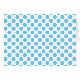 Blue and white polka dots pattern card