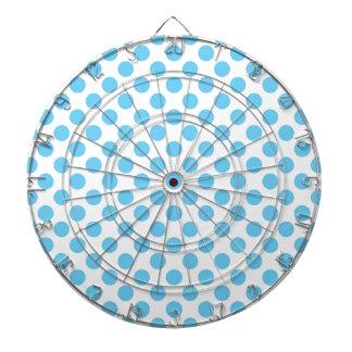 Blue and white polka dots pattern dartboard