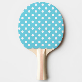 Blue and White Polka Dots Pattern Gifts Ping Pong Paddle