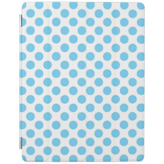 Blue and white polka dots pattern iPad cover