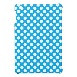 Blue and white polka dots pattern iPad mini case