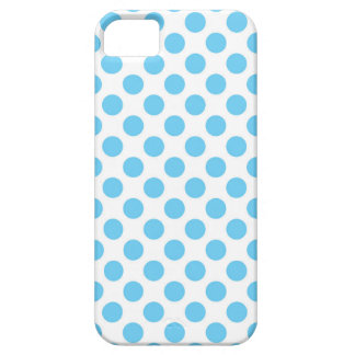 Blue and white polka dots pattern iPhone 5 cover