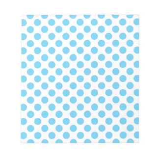 Blue and white polka dots pattern notepad