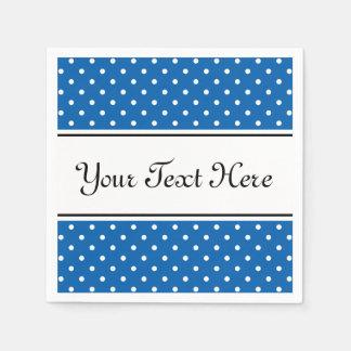 Blue and white polka dots pattern party napkins paper napkins