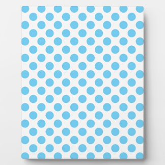 Blue and white polka dots pattern plaque