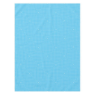 Blue and white polka dots pattern tablecloth