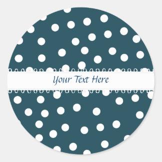 Blue and White Polkadot Sticker