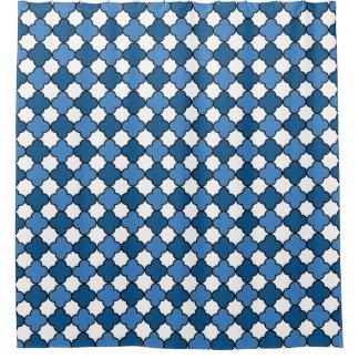 Blue and White Quatrefoil