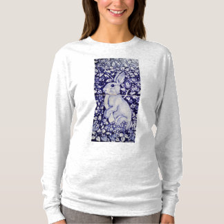 Blue and White Rabbit China Dedham Women's T Shirt