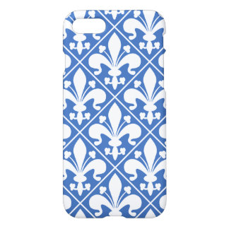 Blue and White Renaissance Fleur de Lys iPhone 8/7 Case