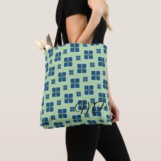 Blue and White Retro Windows Pattern Tote Bag