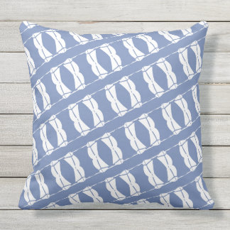 Blue and White Sailboats Outdoors Throw Pillow