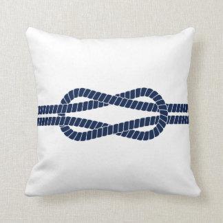 Blue and White, Sailing Rope - Nautical Throw Pillow