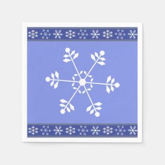 Blue and White Snowflake Napkin #HolidayZ