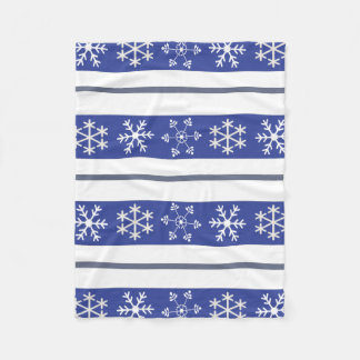 Blue and White Snowflake Throw #HolidayZ Fleece Blanket