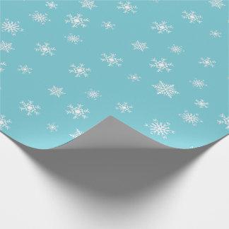 Blue and White Snowflakes Gift Wrap
