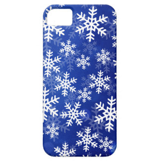 Blue and White Snowflakes iPhone 5 Cases
