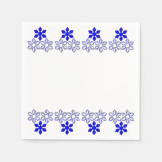 Blue and white Snowflakes Paper Napkins