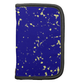 blue and white specks folio planners