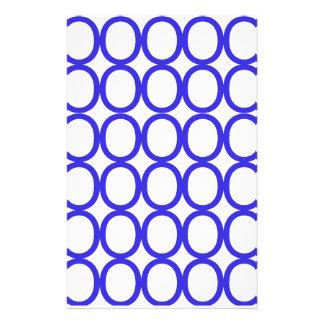 Blue and White Splash of O's Customized Stationery