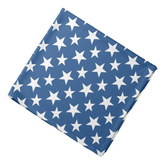 Blue and White Stars Bandana
