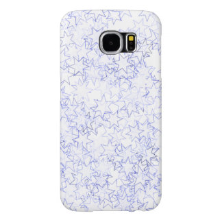 Blue and White Stars Team Spirit Sports Colors Samsung Galaxy S6 Cases