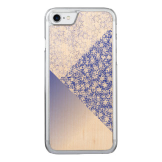 Blue and White Stars Team Spirit Sports Colours Carved iPhone 7 Case
