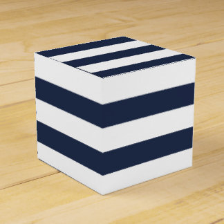 Blue And White Stripe Nautical Wedding Party Favor Favor Box