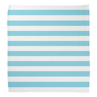 Blue and White Stripe Pattern Bandannas
