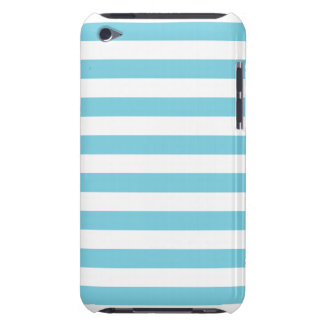 Blue and White Stripe Pattern Barely There iPod Cover