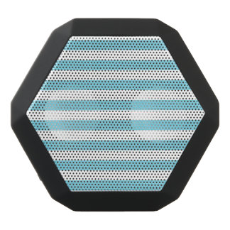 Blue and White Stripe Pattern Black Bluetooth Speaker