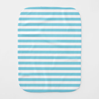 Blue and White Stripe Pattern Burp Cloth