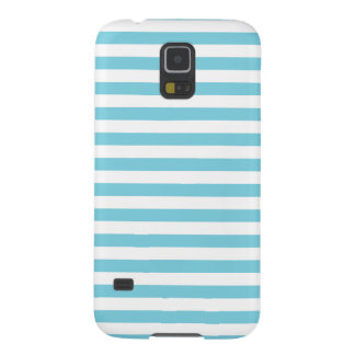 Blue and White Stripe Pattern Case For Galaxy S5
