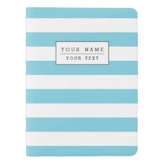 Blue and White Stripe Pattern Extra Large Moleskine Notebook