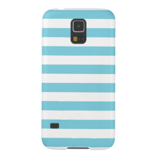 Blue and White Stripe Pattern Galaxy S5 Covers
