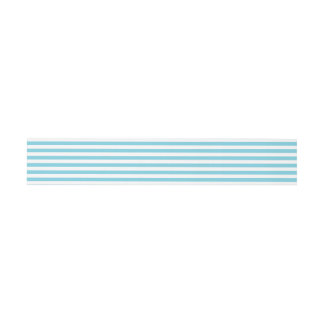 Blue and White Stripe Pattern Invitation Belly Band