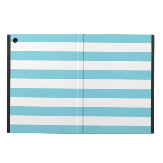 Blue and White Stripe Pattern iPad Air Cover