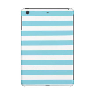 Blue and White Stripe Pattern iPad Mini Cases