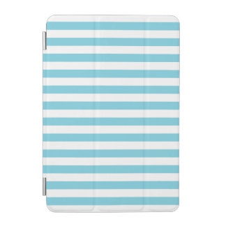 Blue and White Stripe Pattern iPad Mini Cover