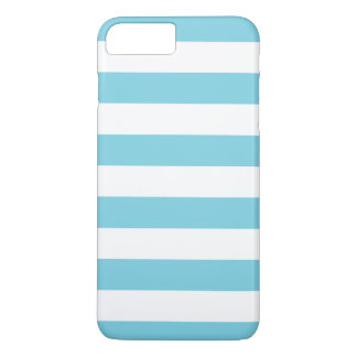 Blue and White Stripe Pattern iPhone 8 Plus/7 Plus Case