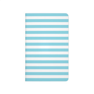 Blue and White Stripe Pattern Journal